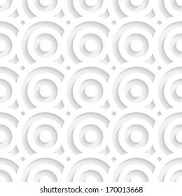 White Seamless Circles Pattern