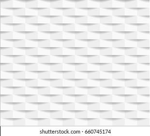 White seamless geometric pattern background