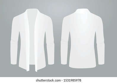 White shawl sweater. vector illustration
