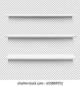 White Shelf, Vector Illustration