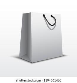 white shopping bag. vector illustration