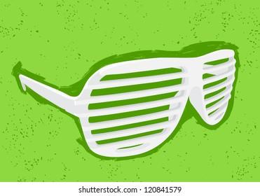 White shutter shades