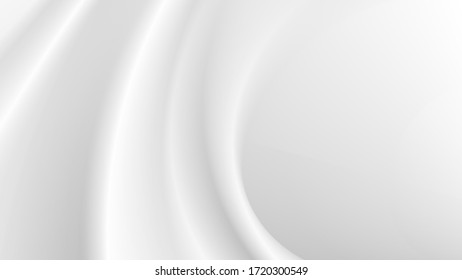 white silk cloth fabric wave overlapping with light and shadow. white and gray abstract texture background and copy space for web design