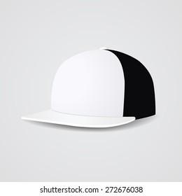 White simple baseball cap template.