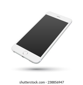 White smartphone vector mockups. Can use for printing, website, presentation element. for app demo on phone.