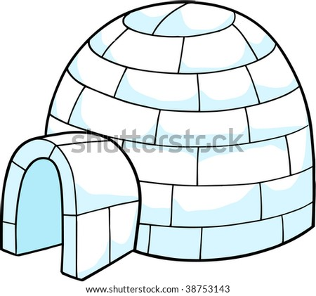 White Snow Igloo Vector Illustration Stock Vector Royalty Free