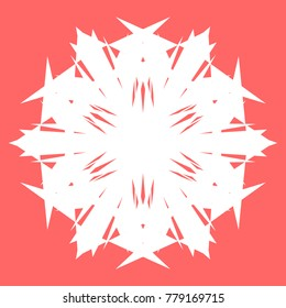 White snowflake for your New Year design. Snowflake for posters, cards, invitation design