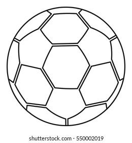 White soccer ball icon. Line illustration of white soccer ball vector icon for web