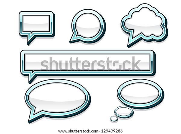 white speak banners