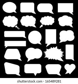 White Speech Bubbles