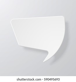 White speech bubbles with the effect of paper and shadow