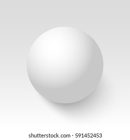 White sphere. Ball. 3D. Vector illustration.