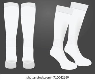 White sport socks. vector illustration