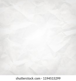 White square abstract vector background -- crumpled pack paper texture