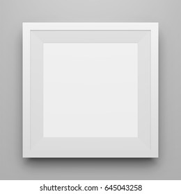White square Picture Frame Mockup with Shadow