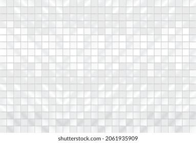 White squared mosaic seamless pattern. Square tiles seamless pattern. Mirror mosaic modern texture background. White ceramic tile background. Geometric template. Vector illustration EPS10.