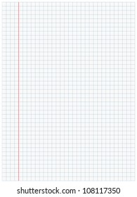 White squared paper sheet background
