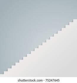 White staircase vector illustration Eps 10.