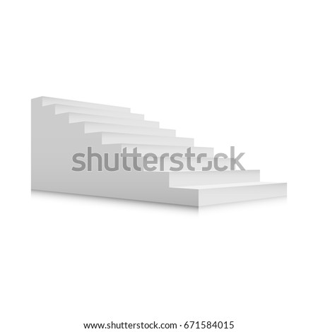 white stairs template interior staircases cartoon stock vector
