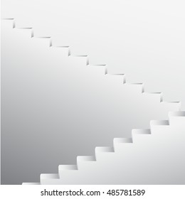 white stairs vector background