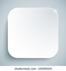White standard icon vector empty template