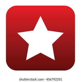 White star on a red rounded square rating