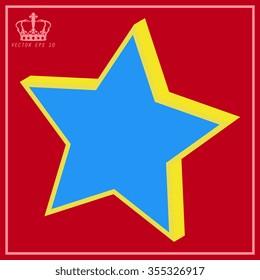 White star vector icon
