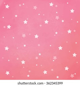 white stars on pink watercolor background background texture