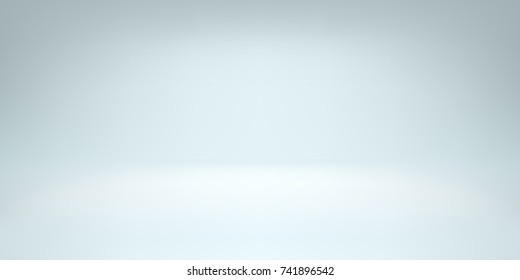 White studio room background with spotlight gradient for premium, luxury product shooting. Vector white clean light room with empty floor backdrop