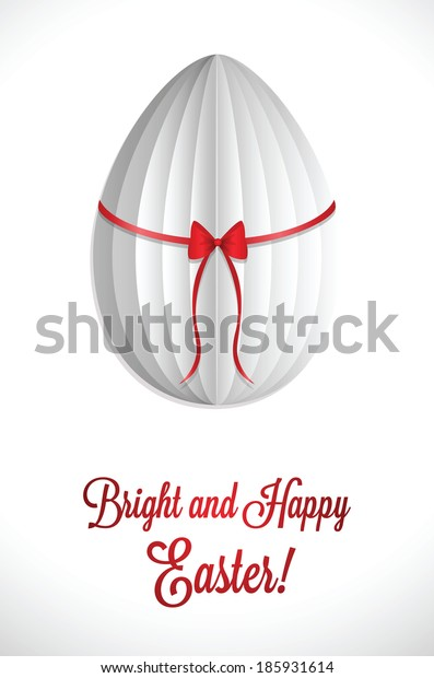 White stylish greeting for Easter. EPS10.