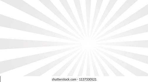 White Sunburst Pattern Background. Rays. Radial. Vector Illustration