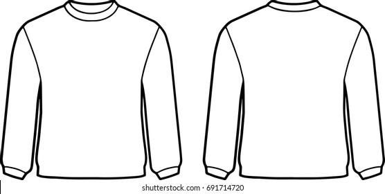 Sweater Template Images, Stock Photos & Vectors | Shutterstock