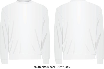 White sweater. vector illustration