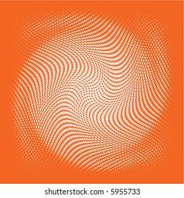 white swirl vector on a dark orange background