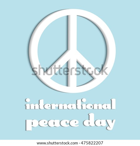 White Symbol International Peace Day Poster Stock Vector Royalty