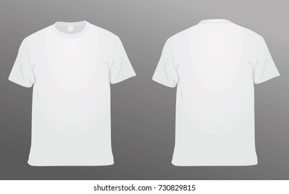 White t shirt. vector illustration