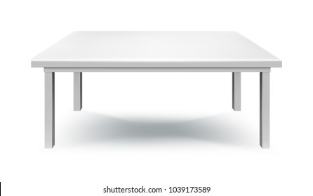 white table isolated vector illustration