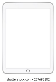 White Tablet Computer In iPad Pro Style Isolated On White