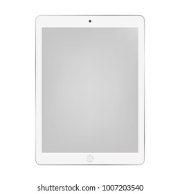 White tablet with grey screen eps10