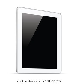 White tablet isolation side view vector eps10