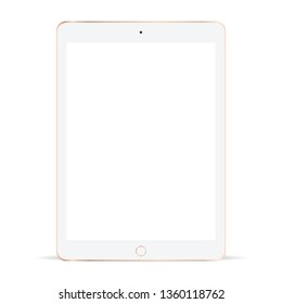 White tablet, Tablet mockup, White tablet isolate vector