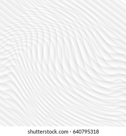White texture. abstract pattern. wave wavy nature geometric modern. on white background for interior wall 3d design. vector illustration