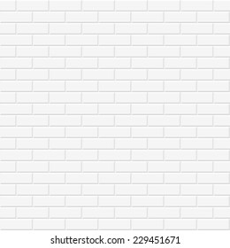White texture, seamless brick wall