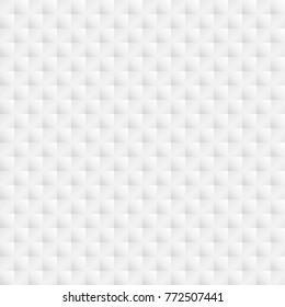 White texture, seamless vector 3d pattern.