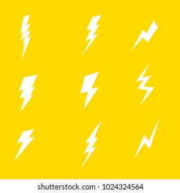 white thunder in yellow background