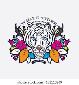 White Tiger Logo Vector