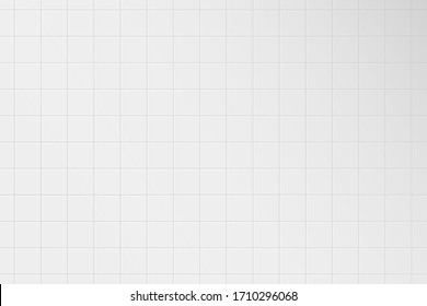 White tile wall. Pattern of ceramic tiled grid for bathroom, kitchen or toilet interior. Realistic 3d square tile with shadow. Vector illustration.