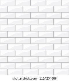 white tiles background for your design, stock vector illustration