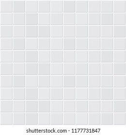 White tiles texture. Abstract white vector background
