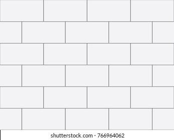 White tiles vector texture.